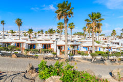 Complex of holiday apartment buildings in Playa Blanca Royalty Free Stock Photography