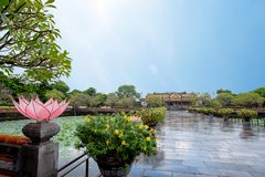Complex of Hue Monuments in Hue, Vietnam. stock photography
