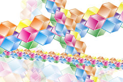 Complex hypercubes - Abstract geometrical background Stock Photo