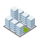 Complex icon. Isometric complex icon, office centre Stock Photography