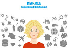 Complex insurance design concept Royalty Free Stock Photography