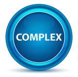 Complex Eyeball Blue Round Button stock illustration