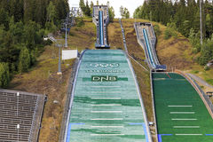 The complex jumps in Lillehammer, Norway Stock Photos
