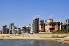 Complex of the Kazan new buildings. On coast of the river Royalty Free Stock Images