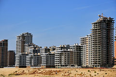 Complex of the Kazan new buildings. On coast of the river Stock Image
