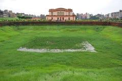 Complex Lalbagh kellaMughal fort dat zich vóór de Buriganga-Rivier bevindt stock fotografie