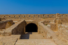 The Complex of Magazines in Fortezza of Rethymno. Royalty Free Stock Image