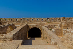 The Complex of Magazines in Fortezza of Rethymno. Royalty Free Stock Photography