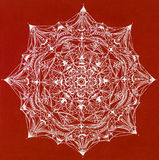 Complex mandala on red background Stock Image