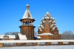 The complex Manor Bogoslovka at sunny winter day. stock image