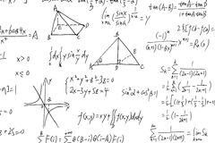 Complex Math Formulas Stock Photography