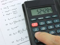 Complex Mathematical Calculations Royalty Free Stock Photography