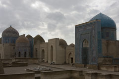 Complex of mausoleums Shah-i-Zinda, Samarkand, Uzbekistan Stock Photo