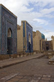 Complex of mausoleums Shah-i-Zinda, Samarkand, Uzbekistan Royalty Free Stock Photo
