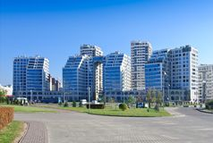 Minsk. Belarus.Residential complex `Minsk lighthouse` stock photography