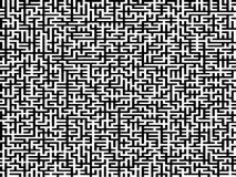 Complex Maze. An intricate maze with black pattern on white stock illustration