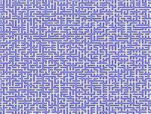 Complex Maze. An intricate maze with a blue pattern on white stock illustration