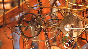 A complex mechanism of copper stock video footage