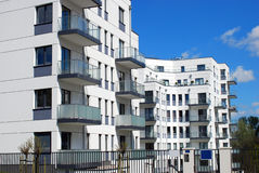 Complex of modern apartments Royalty Free Stock Image