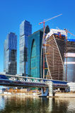 Complex modern skyscrapers Moscow City Stock Image