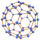 Complex Molecule. 3D illustration of a molecule model Stock Photography