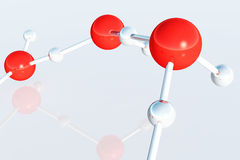 Complex Molecule Atom Structure 3D render. Science Royalty Free Stock Photo