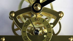 Complex movement of a modern wind-up watch. stock footage