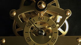 Complex movement of a modern wind-up watch stock footage