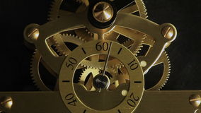 Complex movement of a modern wind-up watch. stock video footage