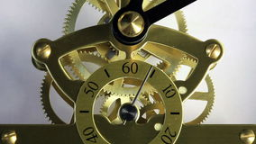 Complex movement of a modern wind-up watch stock video footage