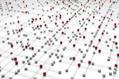 Complex netwerk stock illustratie