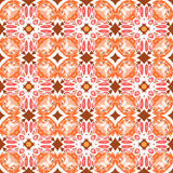 Complex orange and white pattern Stock Image
