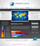 Complex Origami Website - Elegant Design Stock Image