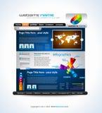Complex Origami Website - Elegant Design Royalty Free Stock Photography