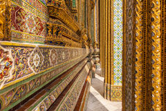 Complex Ornaments in wat phra kaew Royalty Free Stock Photography