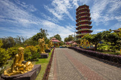 Complex with pagoda Ban Hin Kiong Temple, north Sulawesi,Indonesia Royalty Free Stock Photography
