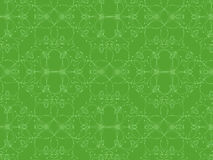 Complex pattern of hearts in green background Stock Images