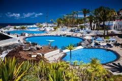 The complex of pools Lago Martianez Royalty Free Stock Photo