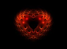 Complex red heart, valentines background Stock Photo