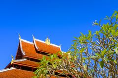 Buddhist Temple Rooftop Royalty Free Stock Photo