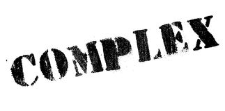 Complex rubber stamp Royalty Free Stock Image