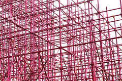 Complex scaffolding setup for a stage Royalty Free Stock Photography
