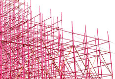 Complex scaffolding setup for a stage Stock Photos
