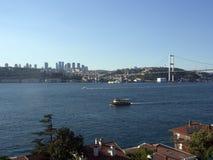 Complex sea traffic at Bosporus, Istanbul Stock Photo