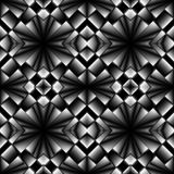 Complex seamless pattern of rhombuses Stock Image