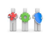 Complex service. Idea, development and security metaphor Royalty Free Stock Photos