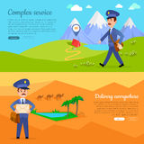 Complex Service Delivery Anywhere Web Banner. Royalty Free Stock Photography