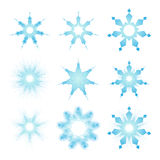 Complex snowflake Royalty Free Stock Images