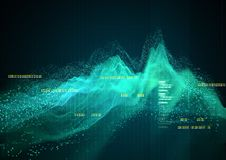 Complex Technical Graph Background royalty free illustration