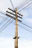The complex of telegraph pole Stock Image